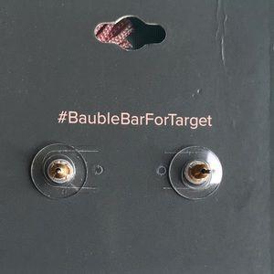 BaubleBar Jewelry - Baublebar Pink Tassel Statement Crystal Earrings